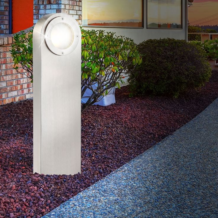 Außenleuchte Gartenleuchte Edelstahl Glas satiniert Globo 31602 – Bild 4