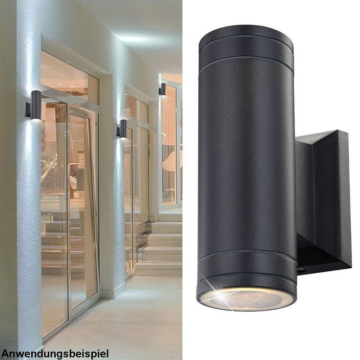 9 Watt LED outdoor lamp wall lamp garden aluminum patio lighting Globo 32028-2 – Bild 2