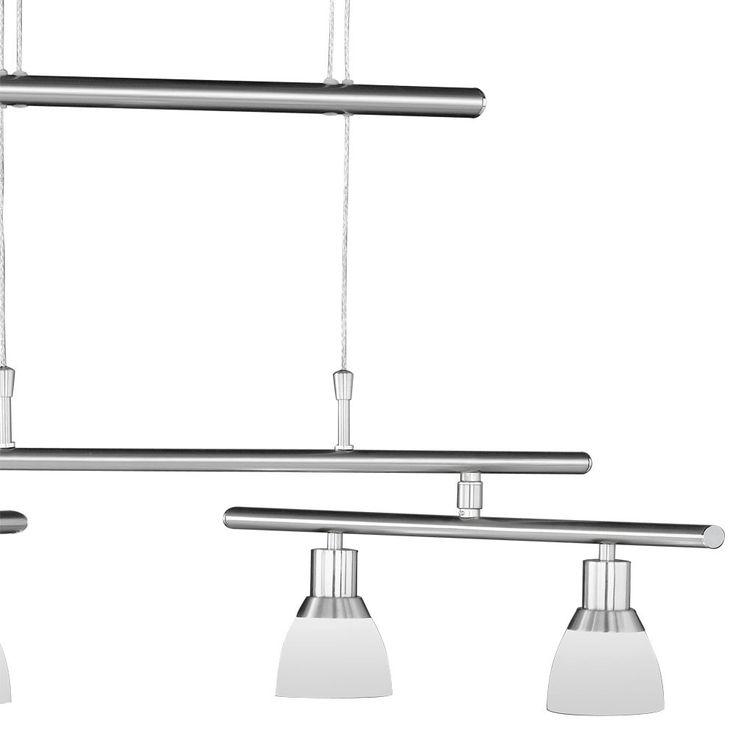 LED 16 Watt Decken Pendel Leuchte 4-flammig Höhenverstellbar Nickel Glas Wofi 7596.04.64.0000 – Bild 3