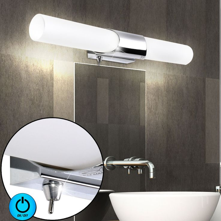 Design wall lamp bath room mirror lighting glass lamp chrome Briloner 2548  -028 – Bild 2