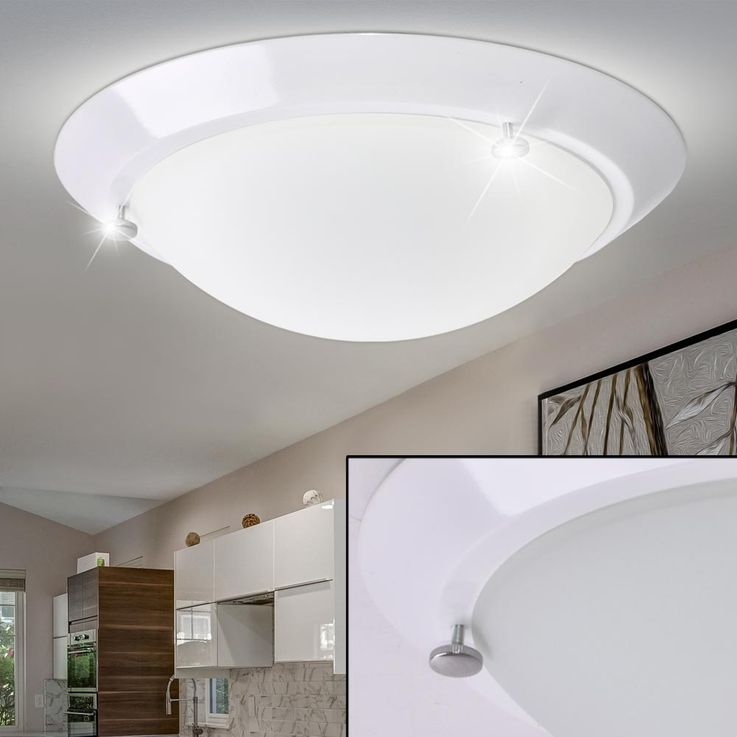 Ceiling lamp bath room lamp damp room spotlights glass lighting round white Briloner 2118  -016 – Bild 3