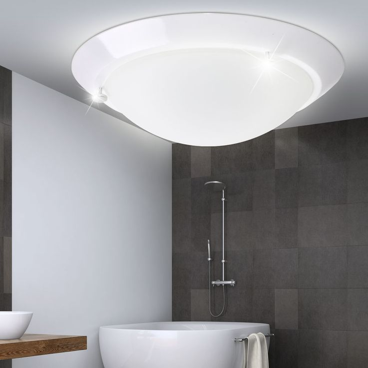 Ceiling lamp bath room lamp damp room spotlights glass lighting round white Briloner 2118  -016 – Bild 2