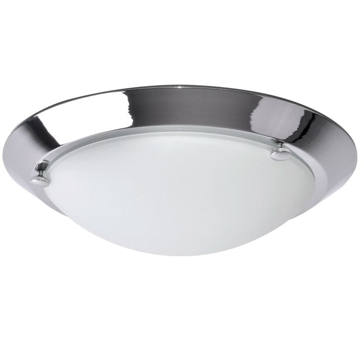 Ceiling lamp bath room lamp damp room glass chrome lighting round white Briloner 2118  -018 – Bild 1