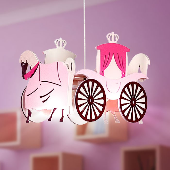 Princess Carriage pendant light hanging lamp children lamp – Bild 5