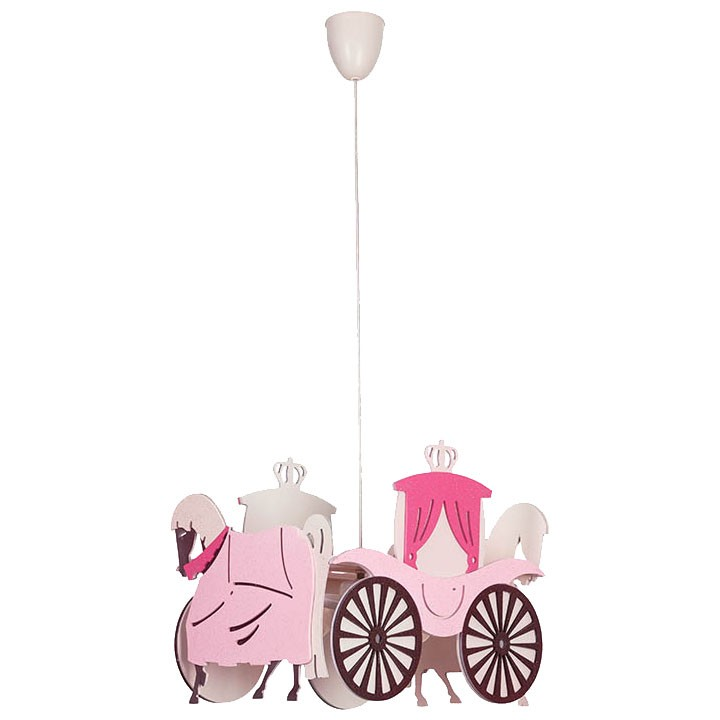 Princess Carriage pendant light hanging lamp children lamp – Bild 1
