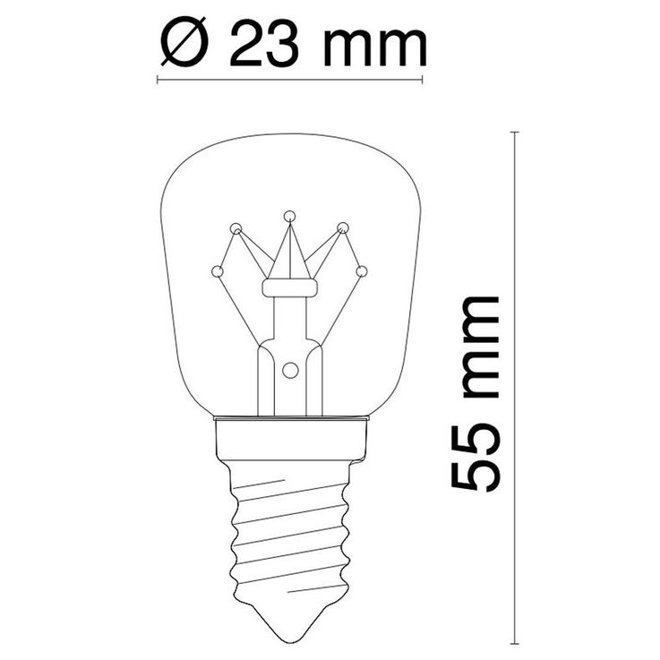 Set of 2 7 watt E14 illuminant warmwhite 80 lumens light bulbs 2700 Kelvin Globo 11407-2 – Bild 4