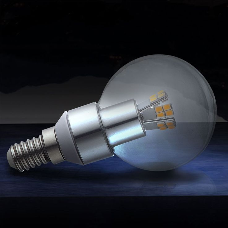 E14 3W SMD LED bulbs 3000K 250lm Globo 10752 – Bild 2