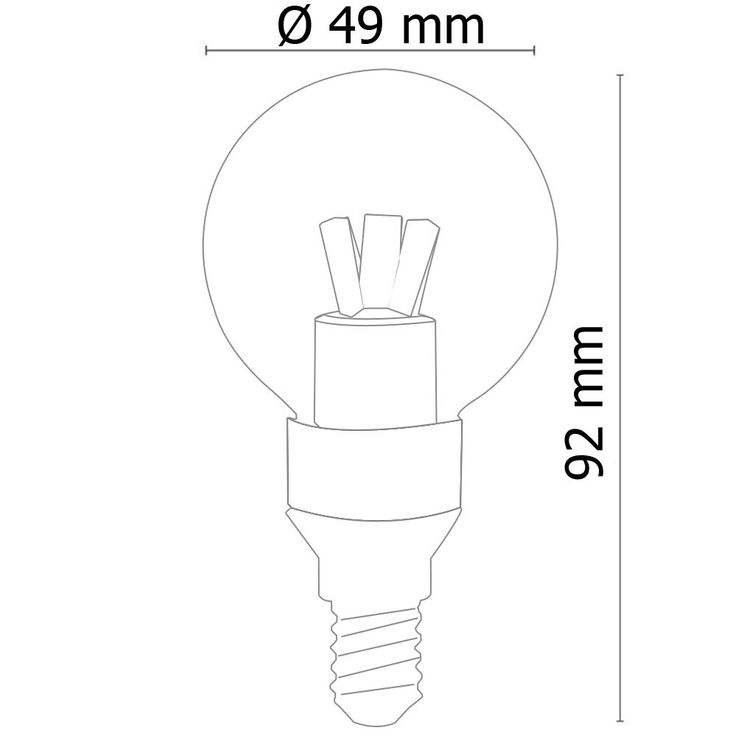 E14 3W SMD LED bulbs 3000K 250lm Globo 10752 – Bild 5