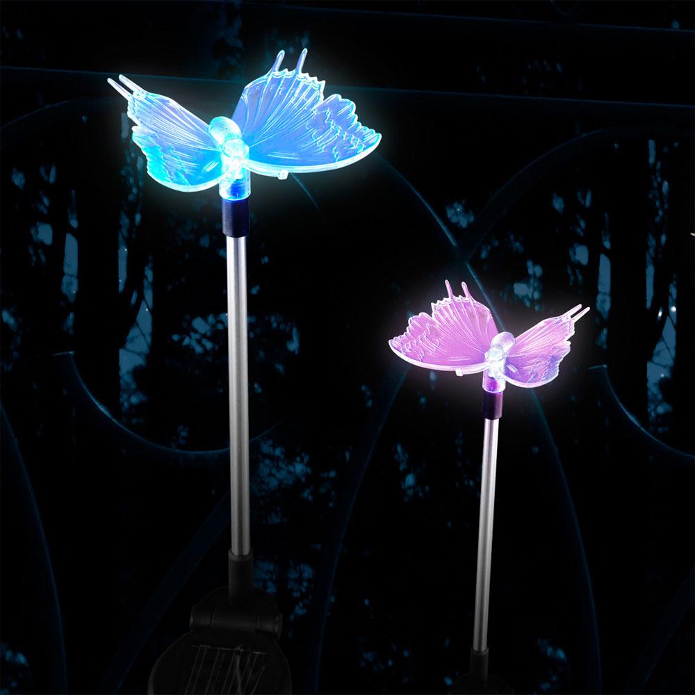 Luminaire solaire led papillon changeur couleur jardin for Luminaire jardin led