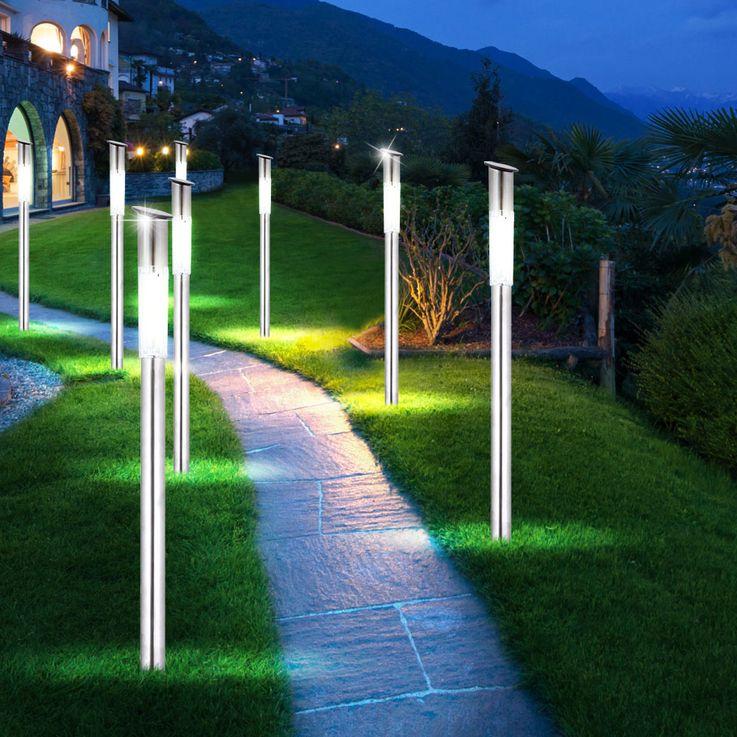 Set of 4 modern garden outdoor solar led lamps lights Globo 33961-4 – Bild 5