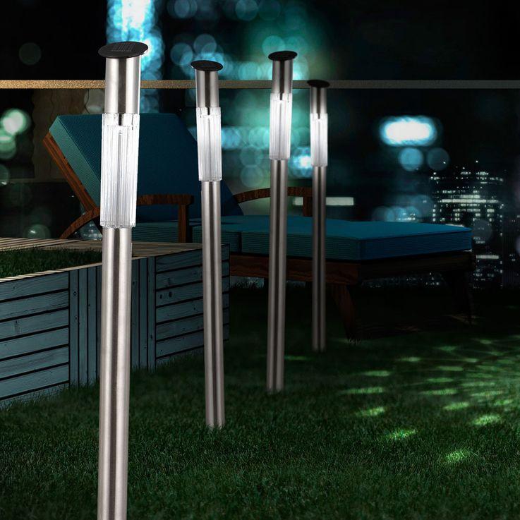 Set of 4 modern garden outdoor solar led lamps lights Globo 33961-4 – Bild 8