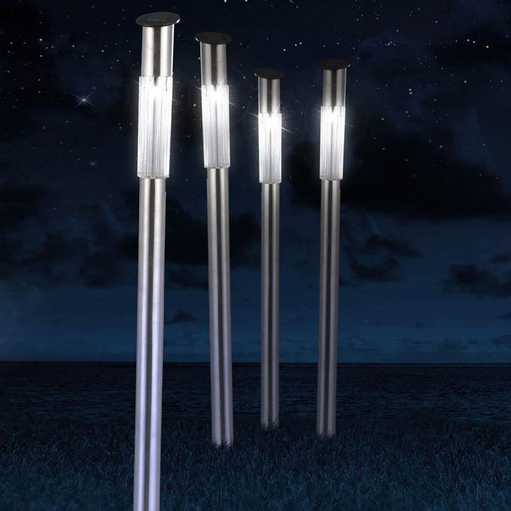 Set de 4 lampes solaires DEL jardin Globo 33961-4 terrasse luminaire espace extérieur éclairage LED – Bild 6
