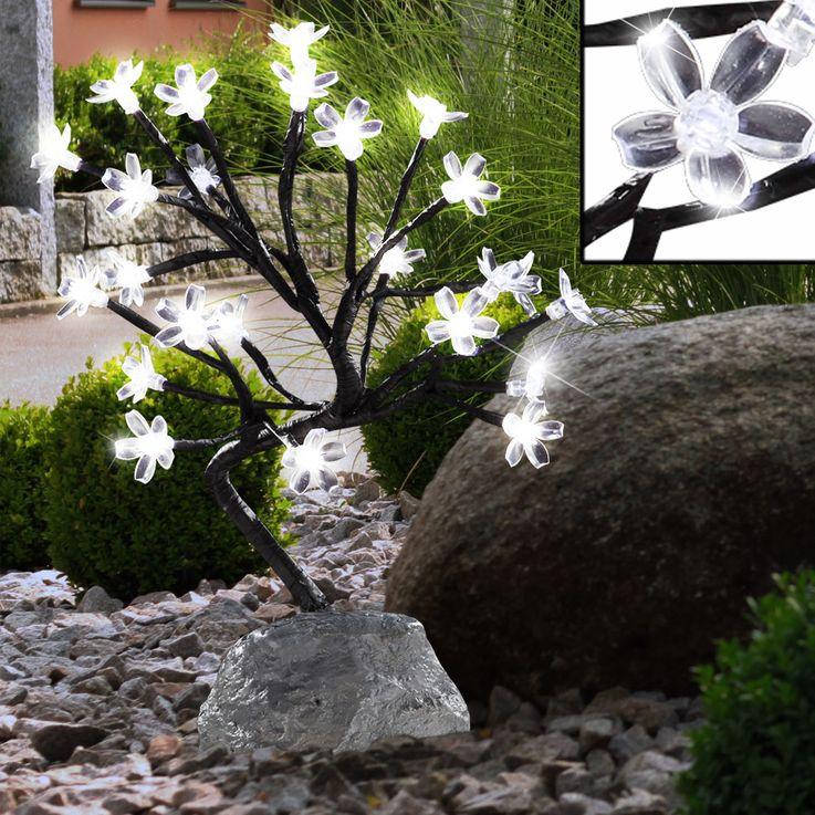 LED Solar Garden Light outdoor lighting plastic flowers light lamp Globo 33415 – Bild 2