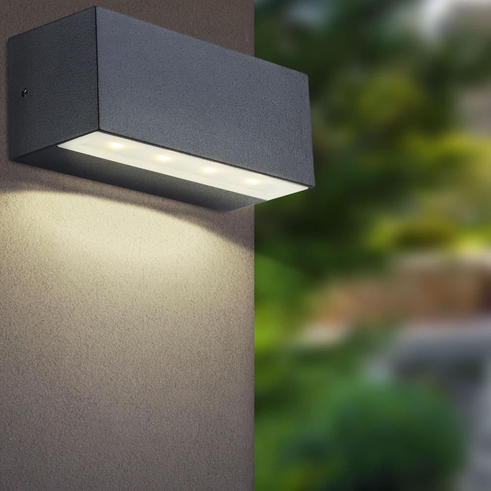 Wandleuchte LED 20 Watt Lampe Terrasse Außenbeleuchtung IP2020 Aluminium Globo  320152   ETC Shop