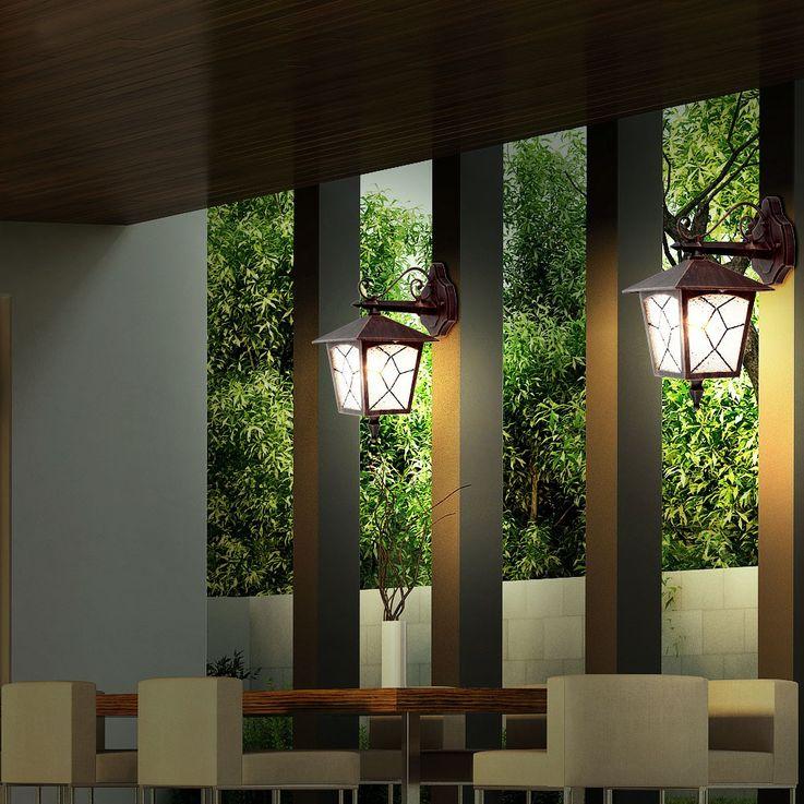 Applique classique luminaire mural lanterne aluminium rusé IP44 éclairage extérieur jardin terrasse – Bild 3