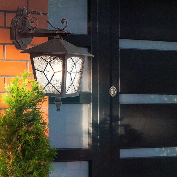 Applique classique luminaire mural lanterne aluminium rusé IP44 éclairage extérieur jardin terrasse – Bild 6