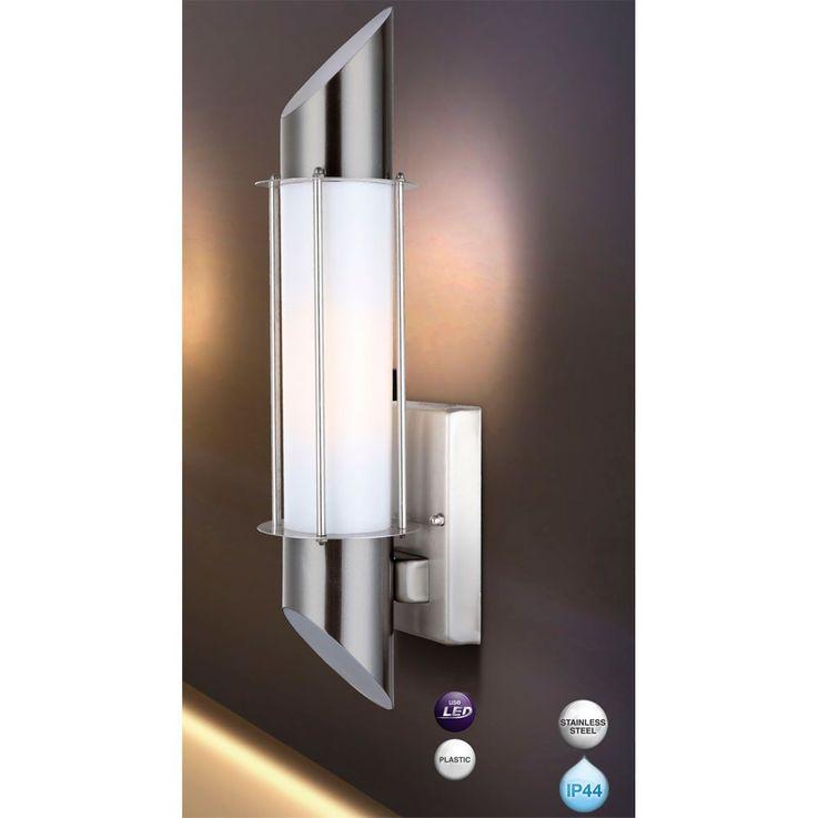 Außenleuchte Wandleuchte Wandlampe Licht Beleuchtung Edelstahl Globo Dacia 31579 – Bild 6