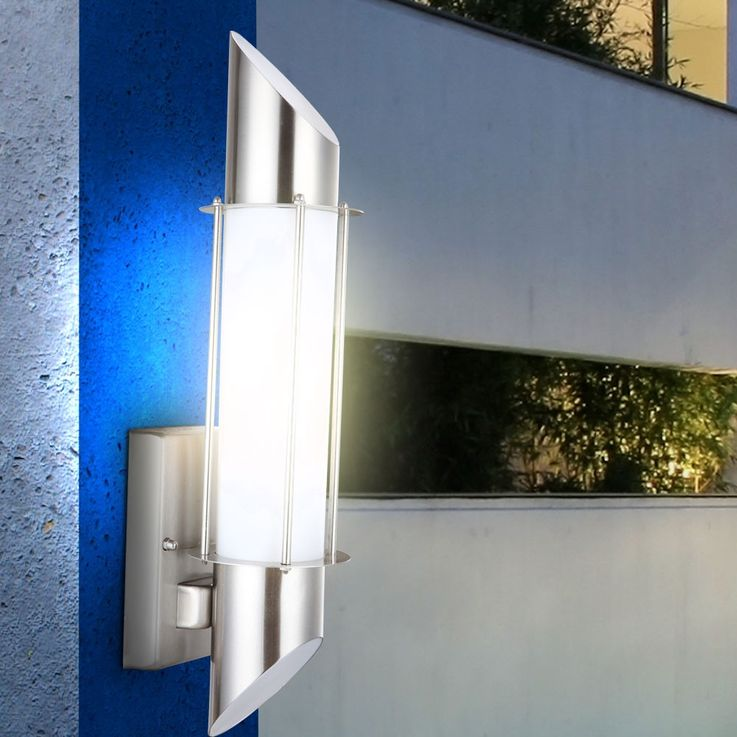 Außenleuchte Wandleuchte Wandlampe Licht Beleuchtung Edelstahl Globo Dacia 31579 – Bild 7
