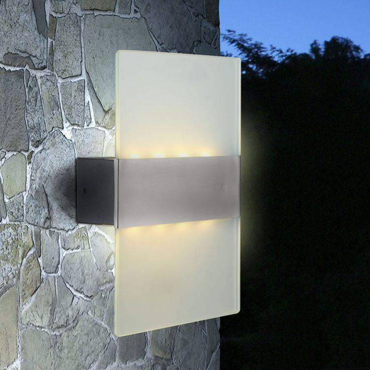 Wandleuchte LED 4 Watt Lampe Terrasse Außenbeleuchtung IP44 Aluminium Globo 34165 – Bild 5