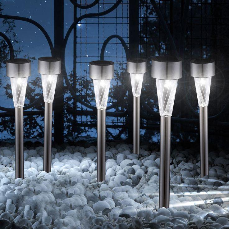 6er Set LED Solarleuchten für den Außenbereich – Bild 7