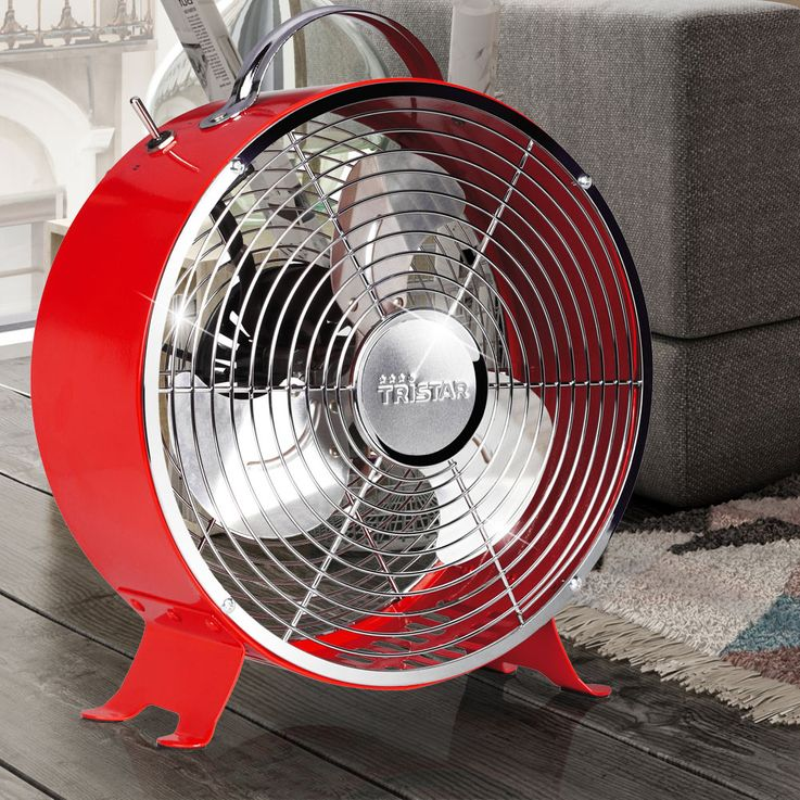 Trendiger Retro-Ventilator in rot Tristar VE-5963 – Bild 2
