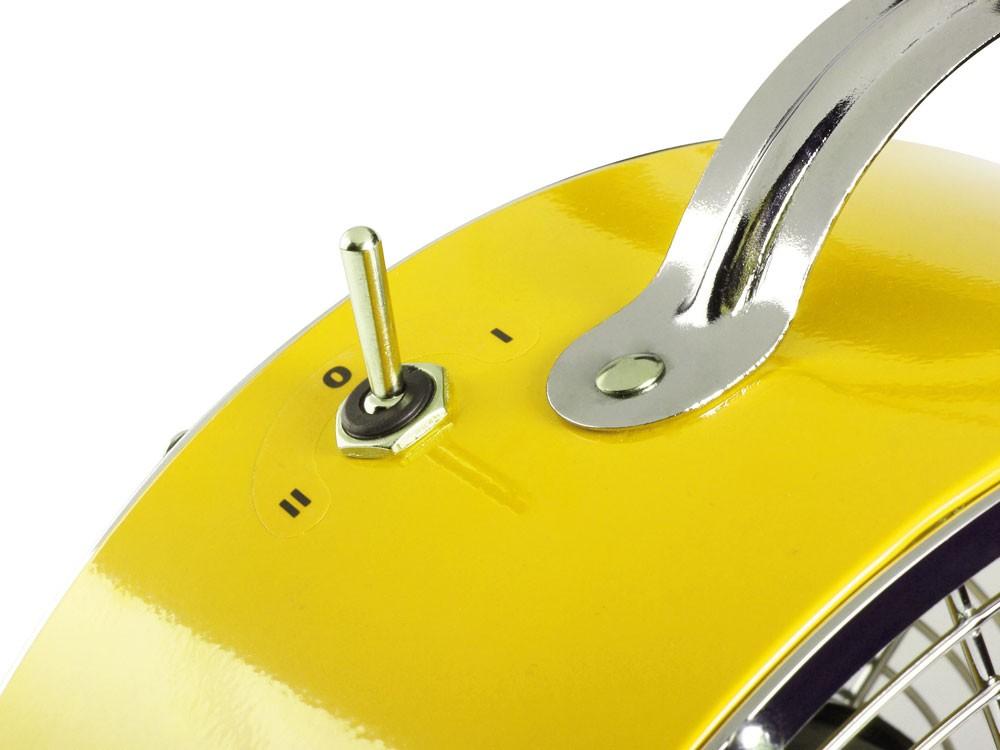 Retro tisch stand ventilator gelb 2 stufen wind maschine klima anlage dm 25cm ebay - Sommer zimmer kuhlen ...