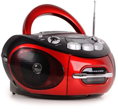 Tragbarer CD-Player Stereoanlage CD-Radio Kassettenradio AUX-IN MP3 Anschluss AEG SR 4353 rot – Bild 1
