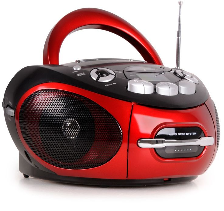 Portable CD Player Stereo CD radio cassette radio AUX-IN MP3 connection AEG SR 4353 red – Bild 1