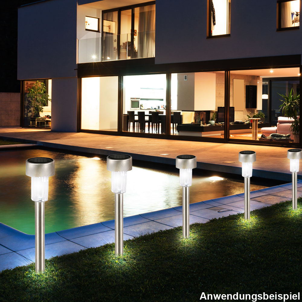 led solar leuchte gartenlampe aussenleuchte terrasse balkon gartenbeleuchtung ebay. Black Bedroom Furniture Sets. Home Design Ideas