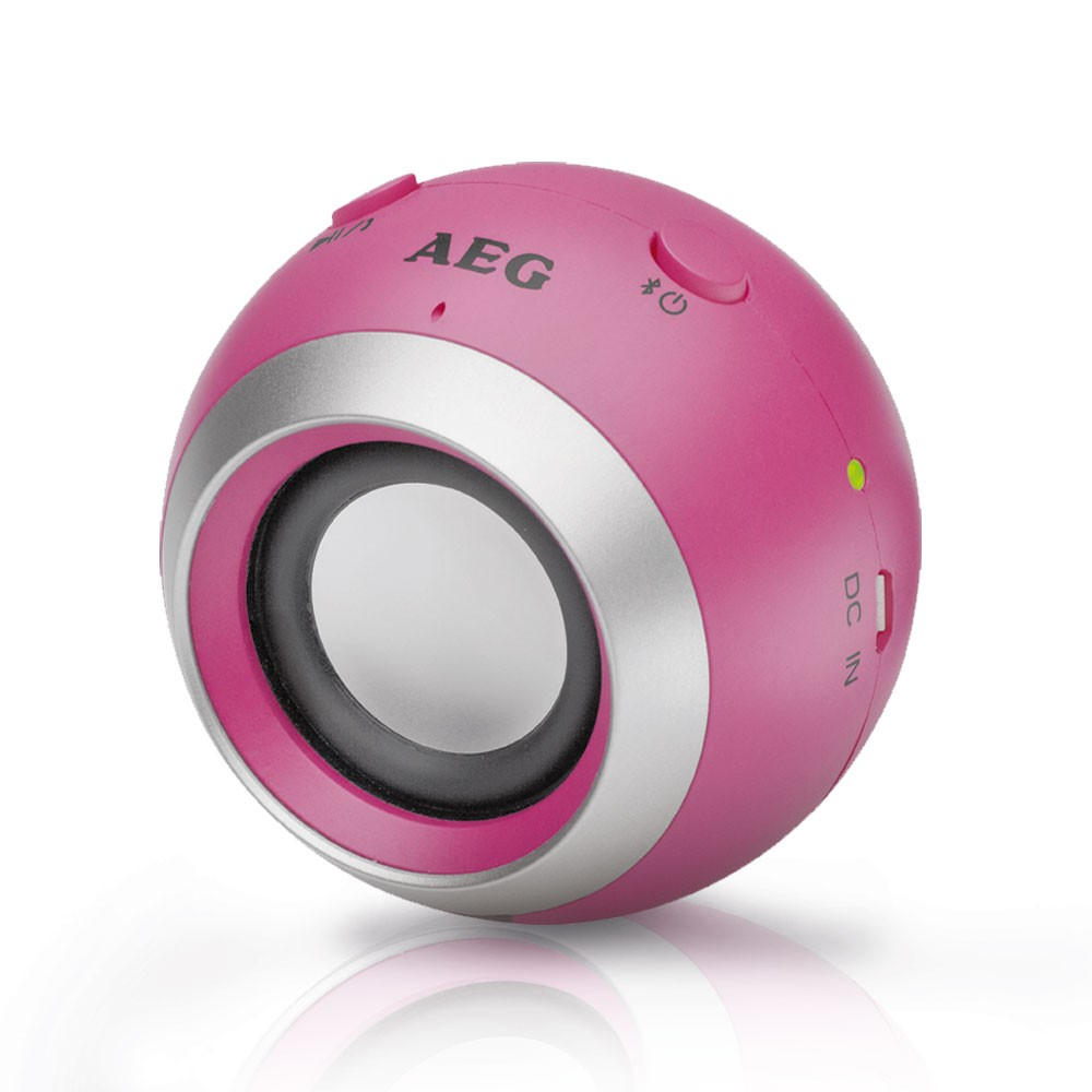 Mini Bluetooth Sound System Speaker Box USB AUX-in HiFi AEG BSS 4817 pink