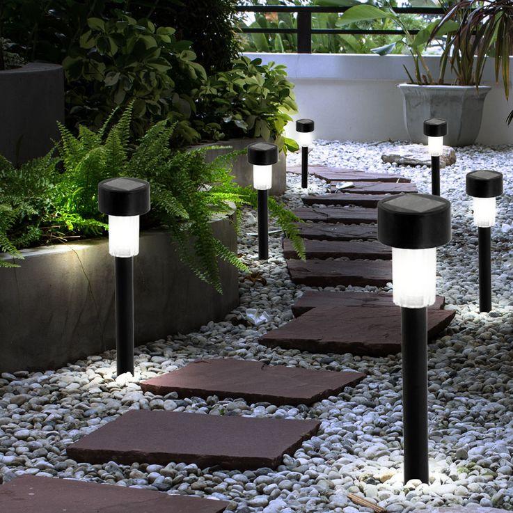6er Set LED Solar Leuchten Gartenleuchten Erdspieß Steckleuchte Lampe McShine SGL-B10 – Bild 2