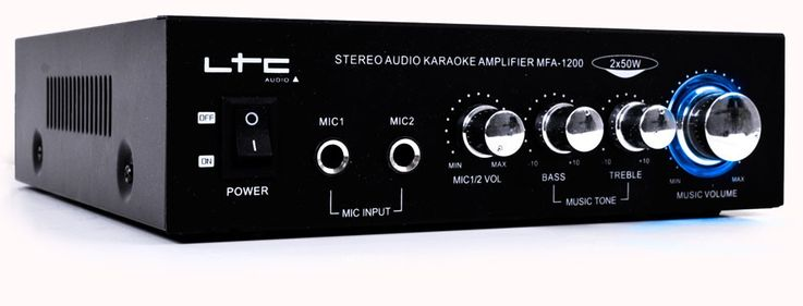Karaoke amplifier karaoke music party black 100W RMS LTC MFA1200BL – Bild 1