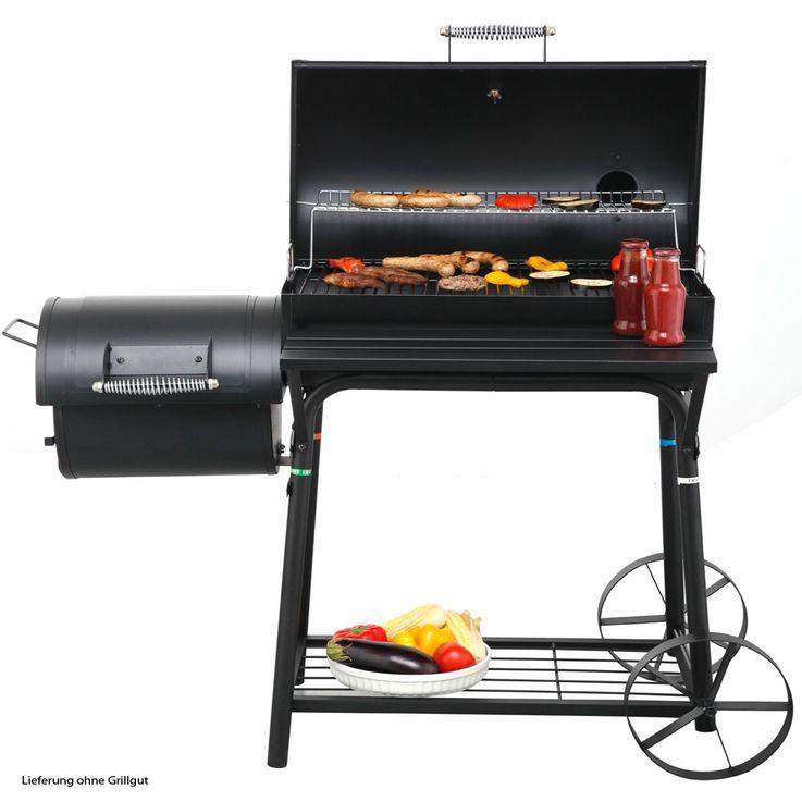 Barbecuegrill Smoker mit Rollen Grill Garten Holzkohlegrill Grillkohle Tepro Biloxi-1087 – Bild 6