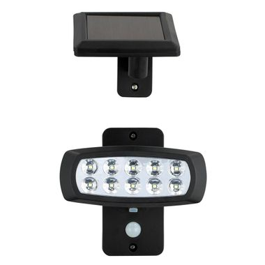 LED solar lamp outdoor light lighting motion detector lamp black plastic HARMS 103117 – Bild 1