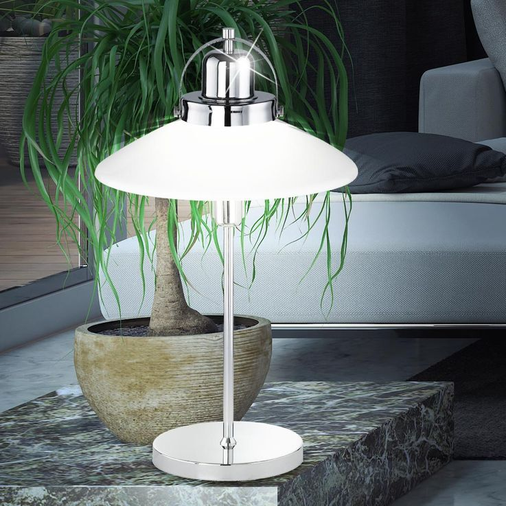 Elegant table lamp made of metal and glass – Bild 2