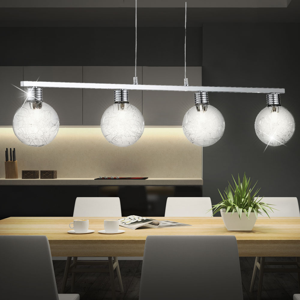decken pendel lampe draht geflecht wohn zimmer glas kugel. Black Bedroom Furniture Sets. Home Design Ideas