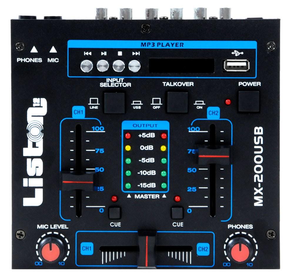 Karaoke Musikanlage mit USB Mixer und Funkmikrofon – Bild 4