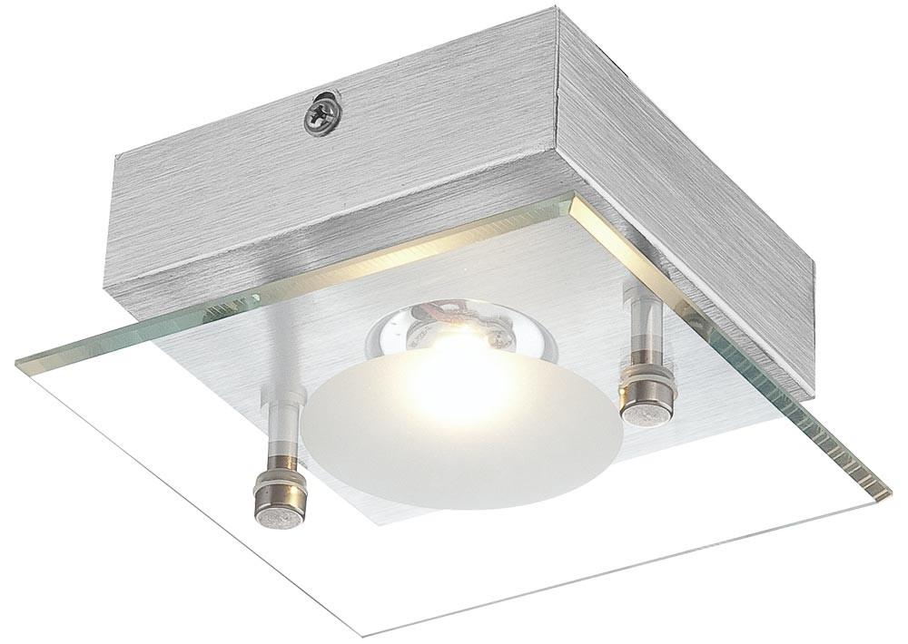 led deckenlampe aus aluminium und klarer glasplatte berto lampen m bel r ume wohnzimmer. Black Bedroom Furniture Sets. Home Design Ideas