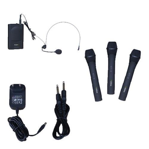 4-Kanal Funkmikrofonsystem Ibiza VHF4 mit Headset-Mikrofon – Bild 2