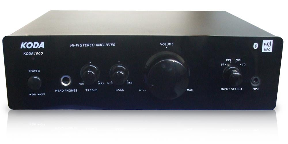 HiFi stereo amplifier with BLUETOOTH NFC professional Partyanlage AUX MP3 Koda 1000