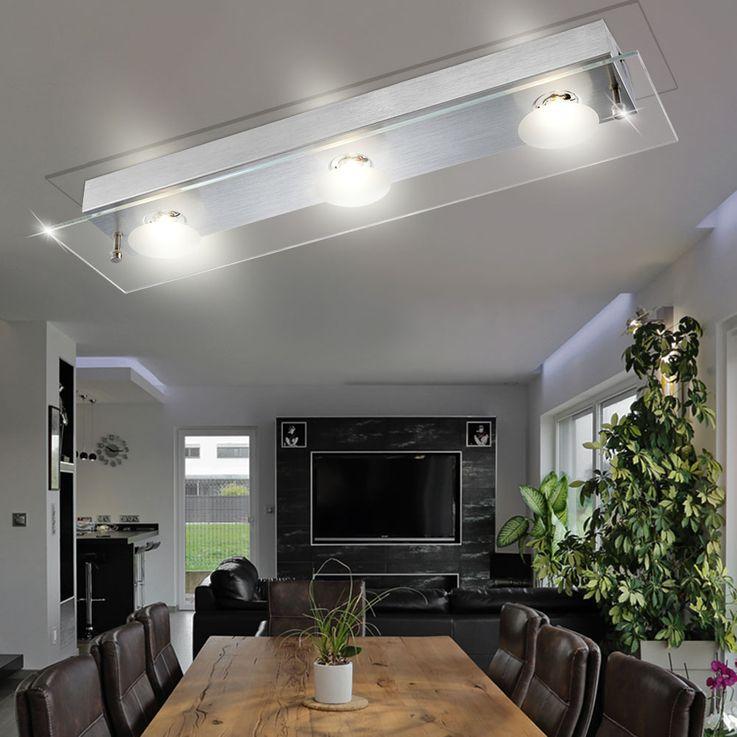 Aluminium Wandlampe mit LED und klarer Glasplatte BERTO – Bild 2