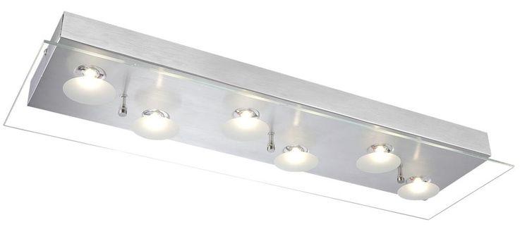 Deckenleuchte Aluminium mit LED und klarer Glasplatte BERTO – Bild 1