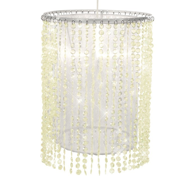 LED ceiling lamp with white-yellowish glass crystals – Bild 1