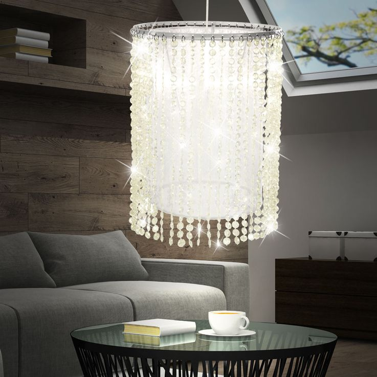 LED ceiling lamp with white-yellowish glass crystals – Bild 4
