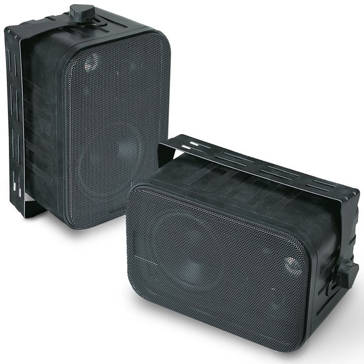 120 watt 3-way surround speakers playing music DJ boxes black – Bild 1