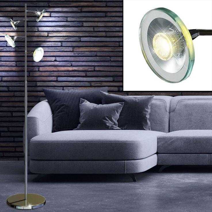 20 Watt COB-LED floor lamp floor lamp lighting chrome light  Esto Starled 780004-4 – Bild 4