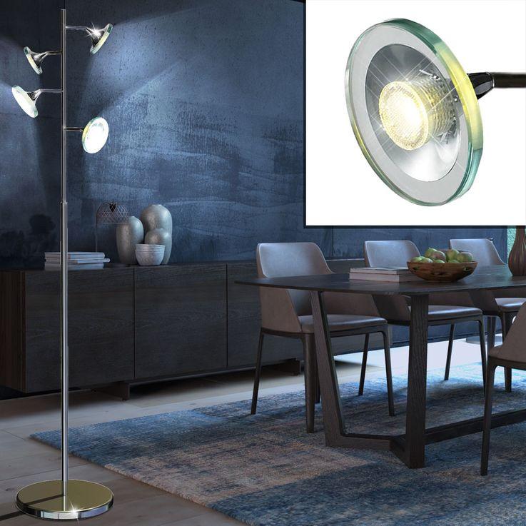 20 Watt COB-LED floor lamp floor lamp lighting chrome light  Esto Starled 780004-4 – Bild 3