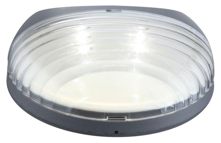 2er Set LED Zaun Solarleuchten aus Kunststoff in grau – Bild 9