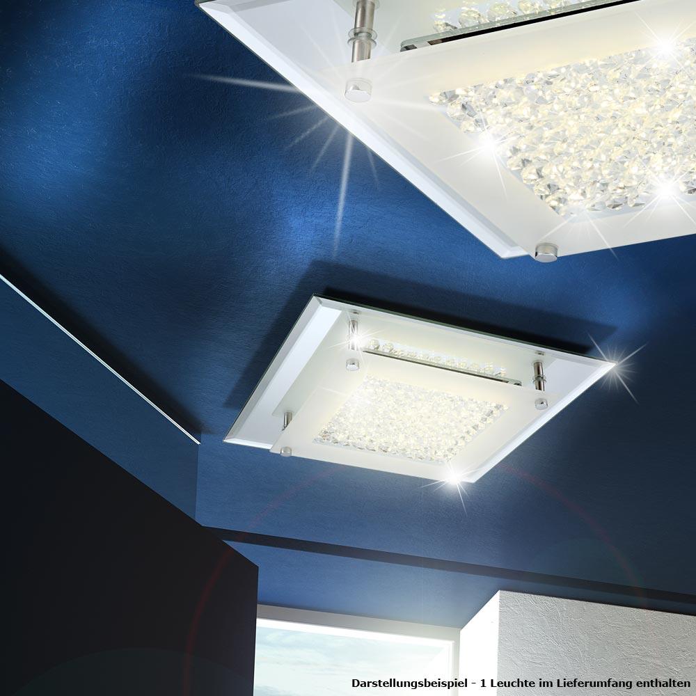 LED Decken Wohnzimmer DESIGN Leuchte Kristall Glas Lüster Chrom ...