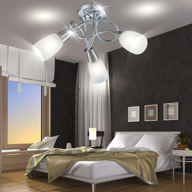 Éclairage plafonnier chrome lampe verre 3 spots luminaire lumière Globo 63178-3 – Bild 4